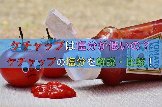 トマトケチャップの塩分は低いのか